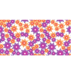 orange and violet flowers vector image vector image