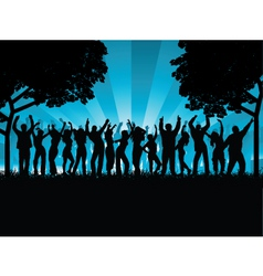 outdoor party vector image
