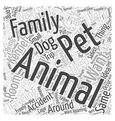 Pet friendly rentals word cloud concept vector