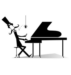 pianist original silhouette isolated vector image