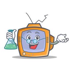 Professor tv character cartoon object vector