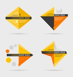 Set of geometric infographic elements vector