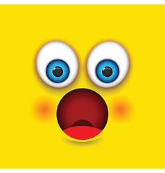 Shocked square emoji vector