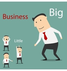 Small and big business partnership vector image vector image