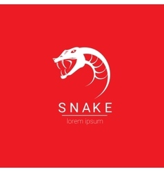 snake simple logo design element vector image