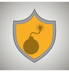Symbol bomb danger data vector