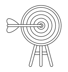 Target icon outline style vector