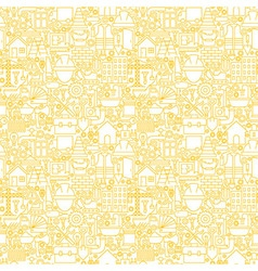 Thin Line Construction White Seamless Pattern vector image vector image