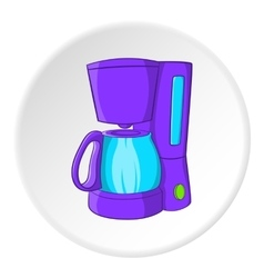 Coffee maker icon cartoon style vector