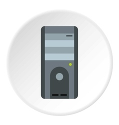 System unit of computer icon flat style vector