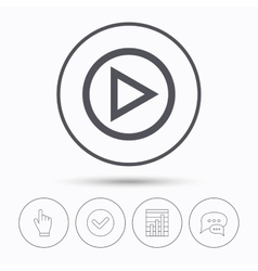 Play icon audio or video player sign vector