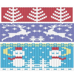 Knitted christmas ornaments vector