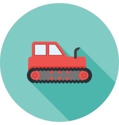 Industrial tractor vector