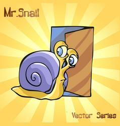 Mr snail with door vector