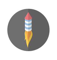 american fireworks isolated icon vector image