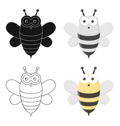 Bee cartoon icon for web and mobile vector