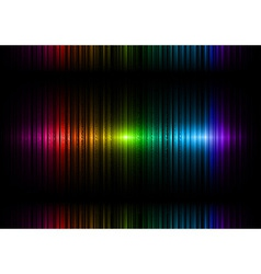 Vertical lines abstract rainbow dark top center vector