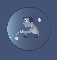 Video game addiction vector