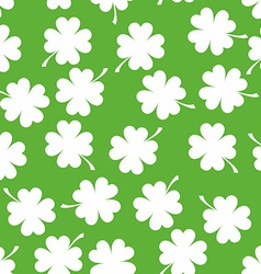 Seamless pattern with clover background for luck vector