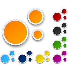 Set of paper color bubbles vector