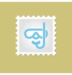 Diving mask stamp vector