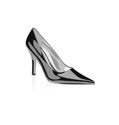 High heel woman shoe vector