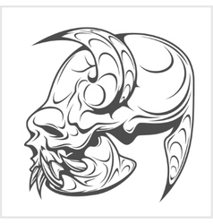 Skull demon or evil horror vector