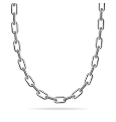 Metal chain jewelry vector