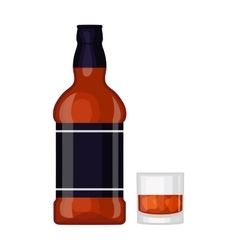 Whiskey bottle vector