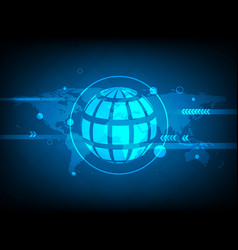 Abstract global world map circle digital vector