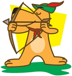 Archers dog vector