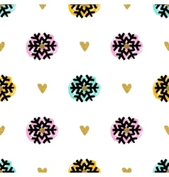 Christmas seamless pattern hand-drawn marker vector image