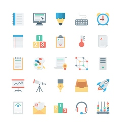 Education colored icons 3 vector