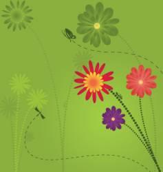floral garden design vector image vector image