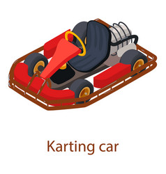 karting car icon isometric 3d style vector image