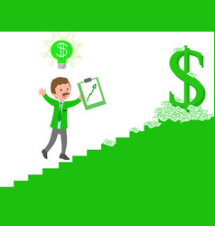 manager climbing the staircase of success vector image vector image