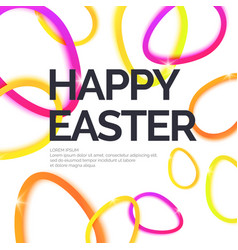 Modern background and poster happy easter vector