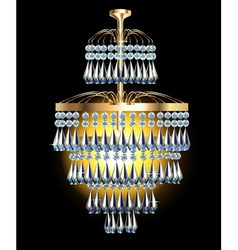 modern chandelier with crystal vector image