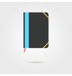Note book icon with shadow vector