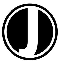 Round j logo vector