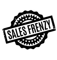 Sales frenzy rubber stamp vector