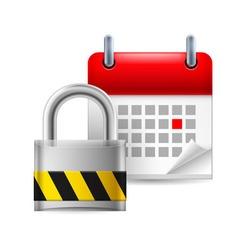 Security padlock and calendar vector