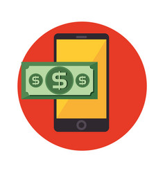 Smartphone device electronic commerce vector