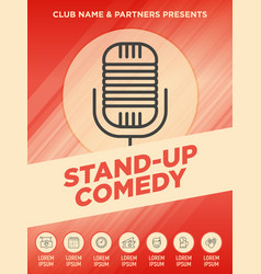 Stand up comedy show poster vector
