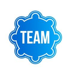 Team seal logo vector