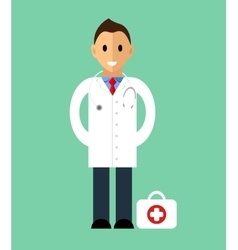 Template of man Doctor standing Isolated vector image