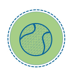 Tennis ball sport vector