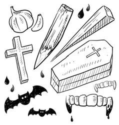 Doodle vampire lore vector