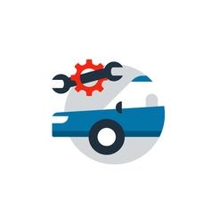 Auto car repair services diagnostic concept vector