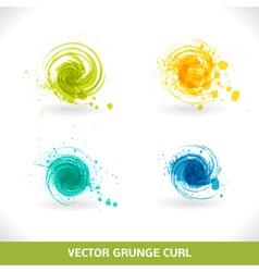 Grunge curl vector
